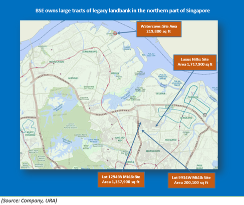 Location of Bukit Sembawang's legacy landbank