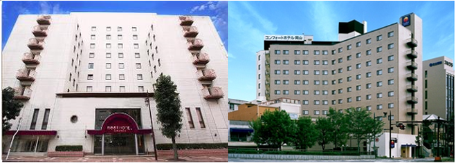 Two of IPC owned Japanese business hotels